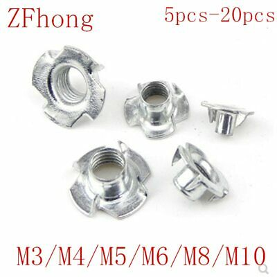 5-50PCS M3 M4 M5 M6 M8 M10 Metric Zinc Insert Nut Captive Wood In Knock Prongs 4