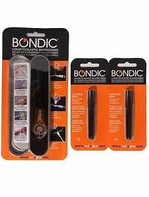 Bondic Kit - Includes 1 Bondic + 2 Refills - Liquid Plastic Welder - LED UV