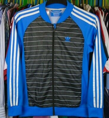 adidas BLACK BLUE SHELL BODY TRACKSUIT TRACK JACKET TOP BOYS 12-13 YEARS