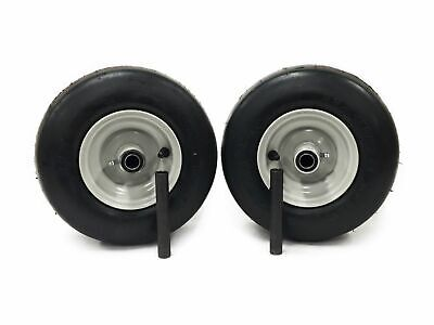 Set of 2 Gravely//Ariens Pneumatic 11x4.00-5 Light Gray Assys replaces 07100124