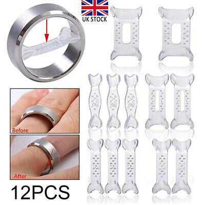 12x Invisible Design Ring Size Clip Guard Resizer Adjuster Reducer Snuggies Set
