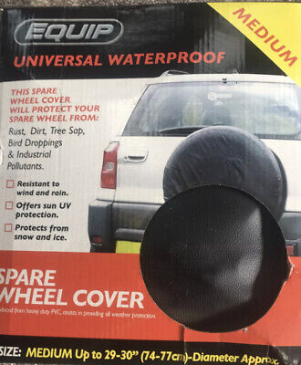 """Spare Wheel Tyre Cover Black Waterproof 15/"""" 4 x 4 Soft Cover 28"""" 29"""" 30"""" 4WD"""
