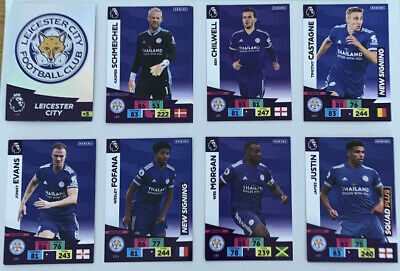 Panini Premier League ADRENALYN XL 2020-2021 Leicester City tarjetas Inc Láminas