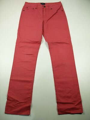 Boys Polo Ralph Lauren Size/Age 16 Red/Pink Slim Fit Zip Fly Jeans Trousers