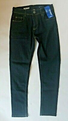 Cool new NEXT boys dark blue denim skinny jeans adjustable waist BNWT age 12