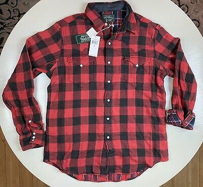 Green Plaid Flannel Preppy Military Cropped Denim Vest Country Western Top XL