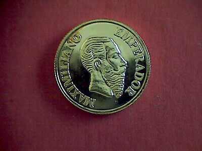 MEXICO'S EMPIRE OF MAXIMILIAN TOKEN (21.9mm, gold plated).