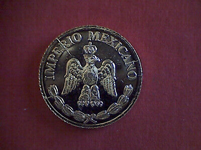 MEXICO'S EMPIRE OF MAXIMILIAN TOKEN (14.5mm, gold plated).
