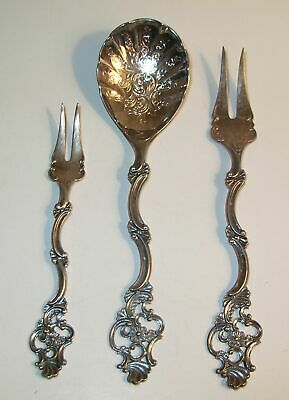 TH MARTHINSEN Norway Sterling Silver OLDEMOR/Great Grandmother Fork&Spoon Lot