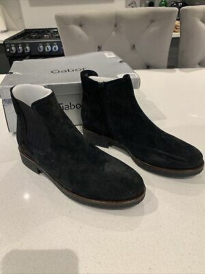 Gabor LOURDES Ladies Womens Real Soft Suede Leather Casual Chelsea Boots Navy