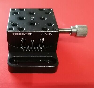 "GN05 - Small Goniometer with 1/2"" Distance to Point of Rotation, ±15º Adjustment"