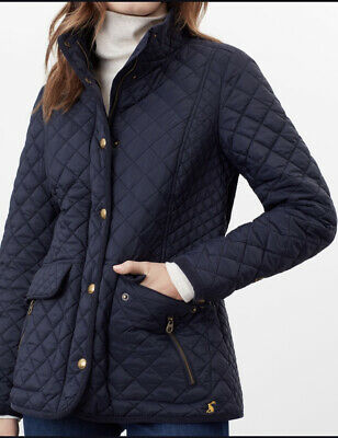 Joules Newdale Ladies Quilted Coat Navy Size 12