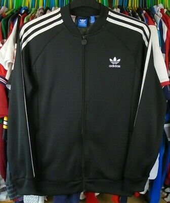 adidas FIREBIRD RETRO BLACK TRACKSUIT TRACK JACKET TOP BOYS 15-16 YEARS