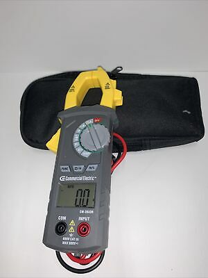 Commercial Electric Clamp Meter w/ Temperature 600V AC/DC Voltage 1001 490 633