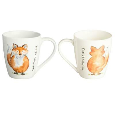Retro Per Anteriore Fox Bianco Fine China Bere Tazza Pentola Regalo