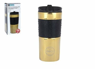 Summit B&co 380ml Dispersione Prova Thermal Viaggio Bere Mug Esterno - Oro
