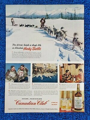 1951 vintage print ad advertising Canadian Club Blended Canadian Whiskey D8-G