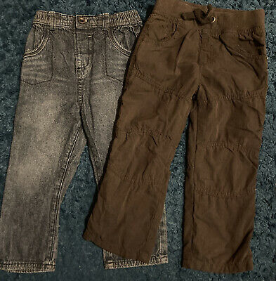 Boys blue Jeans And charcoal Cargo Trousers 18-24 Months nutmeg matalan