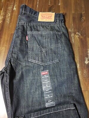 LEVIS 514 Boys Straight Fit Leg Jeans Size Youth 20R Mens 30x30 Dark Wash NEW
