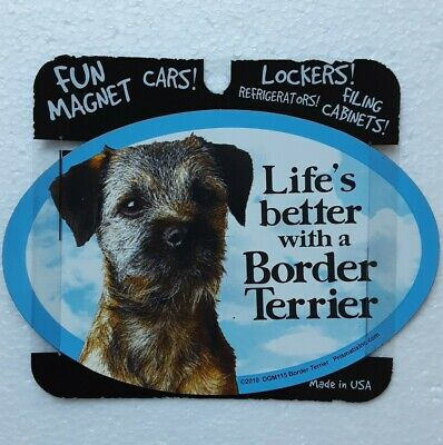Dog Magnet Life's Better With A Border Terrier Pet Lover NWT Made in USA