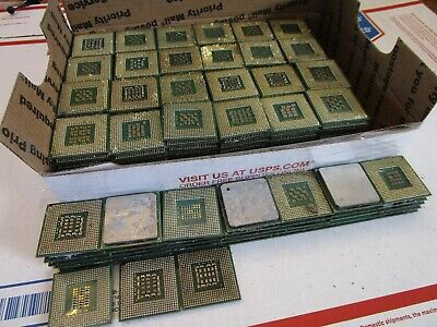 10.75 lb Lot of 254 P4 & Celeron Pin Cpu', For Scrap Gold Recovery