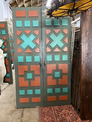 Original Spanish Revival Wooden Block style decorative doors With Hardware
