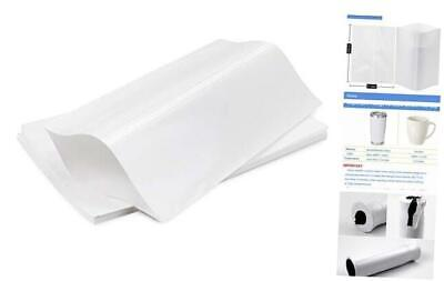 Sublimation Shrink Wrap Sleeves,11x15 Inch White Sublimation Shrink Wrap for