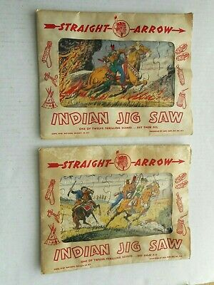 2 - 1949 Straight Arrow Picture Puzzles National Biscuit Company Complete