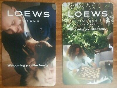 2 Lowes Hotel room key cards