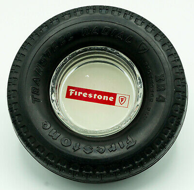 Firestone Tire Ashtray - Transteel Radial - excellent vintage condition