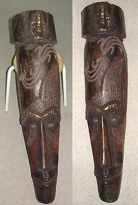 """Fine Old African Fang Gobon Ngil 42"""" Mask Statue Tribal Art Primitive Ny Pick Up"""