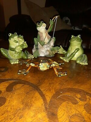 Collectable Frog Figurines Lot Of 4