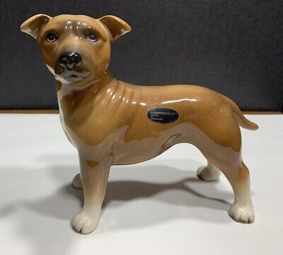 "Staffordshire Bull Terrier, Coopercraft, England, Ex. Cond, 8"" x 3.25"" x 6.5"""