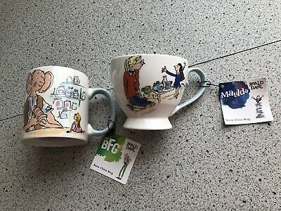 Ronald Dahl Cups/ Mugs - Matilda & BFG - New/ Unused - Lot 3