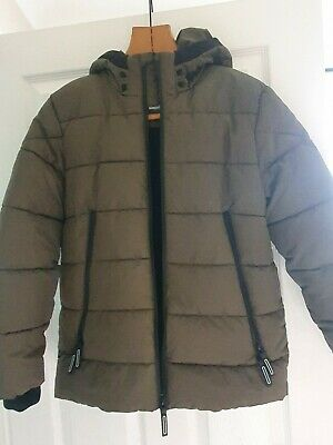 Boys Primark Puffer Coat Khaki Green 11/12