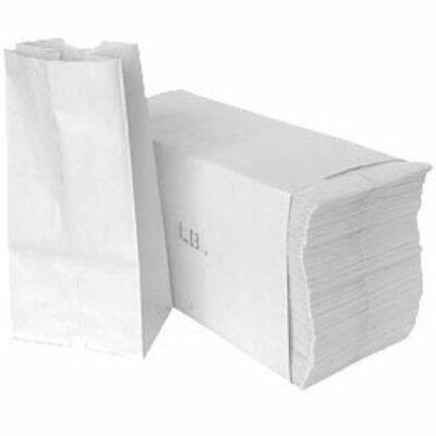 Paper Lunch Bags, Grocery Durable Pack Of 500 White (500, 3 LB) Kitchen &amp