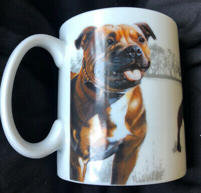 Lovely Staffordshire Bull Terrier Mug By Otter House Gift In Excellent Cond