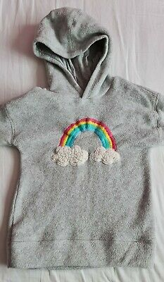 Girls NEXT grey rainbow jumper, hoodie, sweatshirt, Age 4-5 years, height 110cm