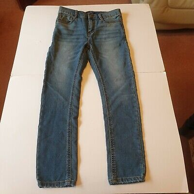 Next Skinny Distressed Look Blue Denim Jeans Age 10 Kids Boys Boy Excellent Cond