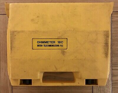 OHMMETER BT TYPE 18C CABLE FAULT TESTER LOCATOR...Preowned