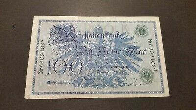 Germany ( Empire ), 100 Mark Vintage  Bank Note. 1908