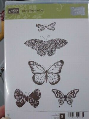 Stampin Up Best of Butterflies RARE Stamp Set Like New
