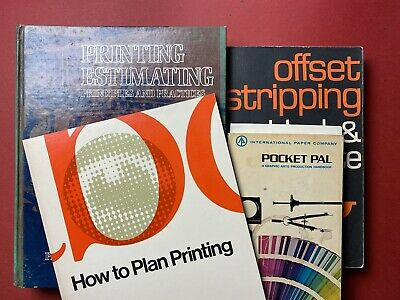 Lot of (4) Printing Books - Manuals, Estimating, Design, Offset, Production Type