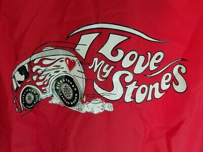 "Vintage Firestone Racing Jacket ""I Love My Stones"" Swingster Red XL windbreaker"