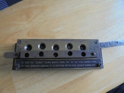 FINDLAY  & Co  BRASS  5  DIGIT COUNTER
