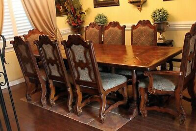 8 dining chairs 100% Mahogany wood solid, 100% hand carved & handcrafted