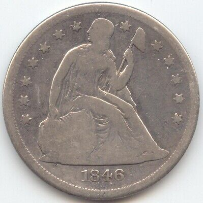 1846-O Seated Liberty Dollar, Decent VG Details