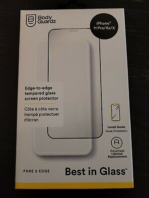 Body Guardz Pure 2 Edge Glass Screen Protector for Apple iPhone 11 Pro/Xs/X NEW