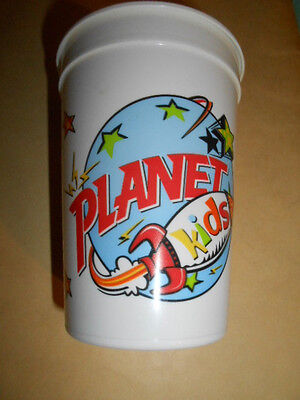 Vintage Plastic Planet Hollywood Kids Cup - 2.0 X 4.0 - Made in the USA