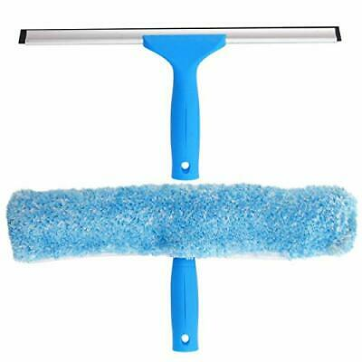 Professional Window Cleaning Combo - Squeegee & Microfiber Window Scrubber, 14""